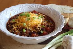 Chilli con carne Japchae, Chili, Soup, Beef, Ethnic Recipes, Red Peppers, Chili Powder, Chilis, Soups