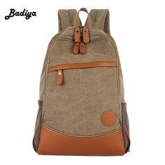19.22$  Buy here - http://alips2.shopchina.info/go.php?t=32735938501 - Men's Travel Bags High Quality Men Backpack Zipper Solid Brief Rucksack Canvas Bag Mochila Masculina Bolsa School Bags 19.22$ #SHOPPING