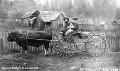 Pioneer family on their way to market