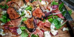 Ember cooked figs, with dolcelatte and parma ham #BBQ