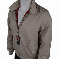 Prestige Beige Vented Harrington Jacket Mod and Skinhead Clothing