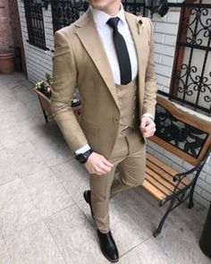 Green North Lapel Wedding Suit for Groom Costume 2019 Please Leave Note for Pants Size if it is not same as Jacket Size Tailoring Delivery Time: days. Receiving Time=Tailoring Time+Delivery Time Ship to Worldwide Email: classybyfashion Suits Outfits, Dress Suits For Men, Men Dress, Casual Outfits, Stylish Mens Fashion, Mens Fashion Suits, Mens Suits, Womens Fashion, Prom Suit Jackets