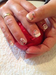Christmas gel polish nail art x