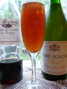 Kir Breton / Kir Normande recipe. Well that's Christmas Day 'chinks' drinks sorted!  Loving the optional Calvados twist too.