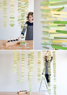 Love this mobile idea.  think I will do a modified version for christmas decorations Paper Mobile DIY | Oh Happy Day!