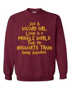 Just A Small Time Girl Living In A Muggle World Shirt Sweatshirt Crewneck - Hogwarts Journey Shirt - Harry Potter Journey Shirt Sweatshirt by SterlingPrintShop on Etsy