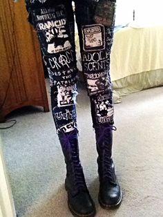 Punk pants with #patches