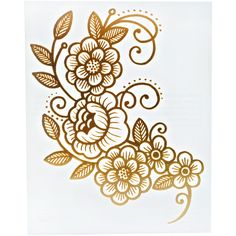 Gold Vine Temporary Tattoo ($12) ❤ liked on Polyvore featuring accessories, body art, tattoos and art