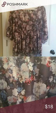 Torrid blouse Floral peplum blouse (Size 2, Torrid) torrid Tops Blouses