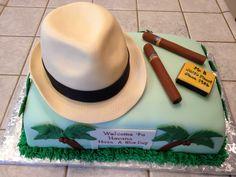 Retirement cake for a Cuban man Havanna Nights Party, Havanna Party, Havana Nights Party Theme, Retirement Cakes, Retirement Parties, Cakes For Men, Just Cakes, Cigar Cake, Cigar Party