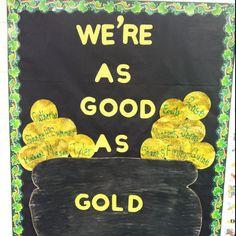 St.Patricks's Day bulliten board from my classroom!