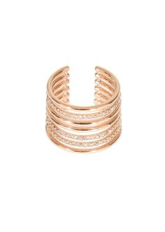 Elise Dray Rings :: Elise Dray pink gold and brown diamonds Amour phalanx ring | Montaigne Market