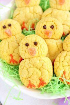 Easter chick lemon cookie