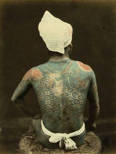 Photographer: Tamamura Kozaburo - Kusakabe Kimbei - Felice Beato - and unknown. Samurai Photography, Vanitas Vanitatum, Soul Tattoo, Meiji Era, Portraits, Old Photographs, Irezumi, Vintage Japanese, Hand Coloring