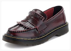 30c74e27b65 Summerwhisper Women s Trendy Fringe Round Toe Low Top Loafers Flats Slip-on  Leather Oxfords Shoes Red 4 B(M) US ( Partner Link)