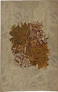 Tulip and Willow brown is now a fine French tapestry, one of our William Morris tapestries with a floral motif. Arts And Crafts Projects, Arts And Crafts Supplies, Textile Patterns, Print Patterns, Floral Patterns, Textile Prints, Acid Wallpaper, William Morris Art, Art And Craft Design
