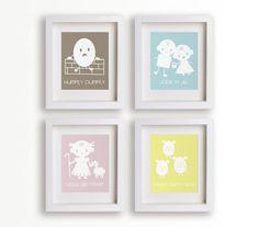 Baby's First Art Print - Jack N Jill 8x10 - Children Decor, Baby Nursery Decor, Nursery Wall Art, Children's Wall Art, Playroom Decor. $14.95, via Etsy.