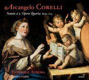 ARCANGELO CORELLI Sonate à 3. Opus 4 Esta obra que Corelli presentó en 1694 como gratitud por la protección recibida del cardenal Ottoboni. Estas sonatas son la culminación de una producción que alternó sonatas da chiesa (op. 1 y 3) y da camera (op. 2 y 4). Grabada en junio de 2012 en Solomeo (Umbría) , Enrico Gatti se acerca a estas obras con su particular elegancia y delicadeza, firmando una vez más, al lado de su Ensemble Aurora, un disco exquisito de la mejor música barroca italiana…