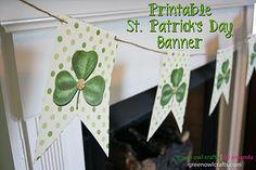 Printable banner template (Shamrock themed!) Thanks greenowlcrafts.blogspot!