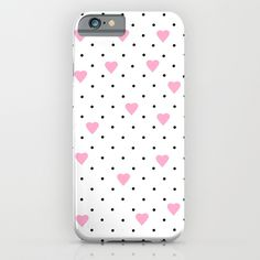 Pin Point Hearts Pink iPhone & iPod Case