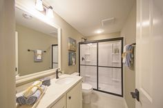 Bathroom in The Hamilton at Woodleaf Reserve. Pewaukee, Wisconsin.