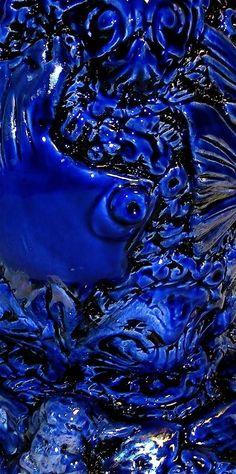 Cobalt blue ceramic