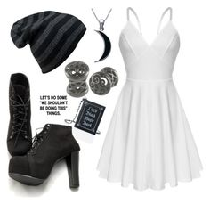 """""""Black Moon"""" by headphones-girl ❤ liked on Polyvore featuring Carolina Glamour Collection and Current Mood"""