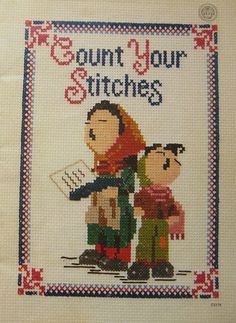 Vintage Count Your Stitches Cross Stitch Pattern by TheHowlingHag