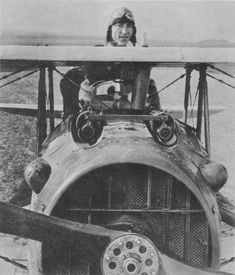 American Ace Rickenbacker: US top ace, Eddie Rickenbacker, with 26 victories. He survived the war.  #WWI #history #airplane