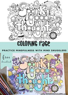 FREE Mindful Coloring Page For Kids Mindsnugglers Spark Good Thoughts