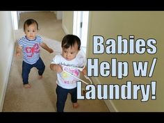 Babies Help with Laundry! - April 22, 2015 -  ItsJudysLife Vlogs