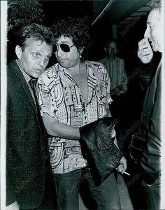 CA6 1985 LA Bob Dylan Promoting Empire Burlesque Rockline Radio Show Orig Photo