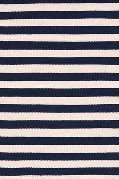 """Dash and Albert Rugs- """"Trimaran Stripe Navy/Ivory"""" - Indoor/Outdoor - 100% Polypropylene - Available @ Maryland Paint & Decorating"""