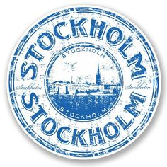 2 X Stockholm Sweden Vinyl Sticker Decal Luggage Travel Tag Gift Map Flag 5773 Cool Stickers, Laptop Stickers, Compass Drawing, Sweden Flag, Travel Stamp, Decoupage, Flag Colors, Vintage Stamps, Stockholm Sweden