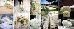 A collection of pretty white weddings that I've planned and styled.