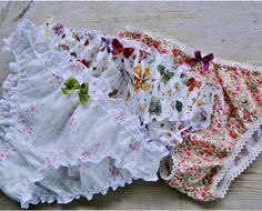 Floral cotton panties low rise floral knickers