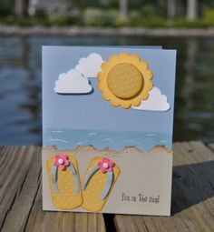 flip flops for punch art cards for July...freakin' adorable!!! :-)