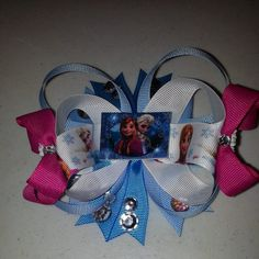 Frozen Hairbow by LindsaybugBowtique on Etsy, $12.00
