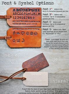 A neat gift idea for the person that has everything already: Hand made leather luggage tags!