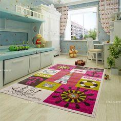Fashion Delicate Thicker Polypropylene Children Soft Large Carpet For Decorate Living Room Bedroom Kid Room Rug Home Floor Mat