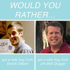 Would You Rather Reality TV Questions In Honor Of Valentine's Day Derick Dillard, Reality Tv Stars, Would You Rather, Fun Games, Hug, This Or That Questions, Cool Games, Cuddle
