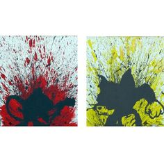 Surges of anger, splashes of paint create this split canvas like painting http://www.ananasa.com/made-mad.html