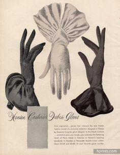 Hansen gloves ad from - women gloves fashion 1940s Fashion, Look Fashion, Trendy Fashion, Vintage Fashion, Cheap Fashion, Victorian Fashion, Ladies Fashion, Fashion Art, Moda Vintage