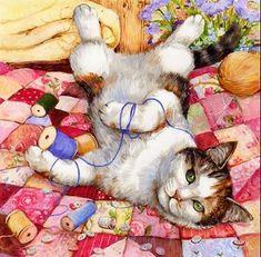 Debbie Cook Cat Artist