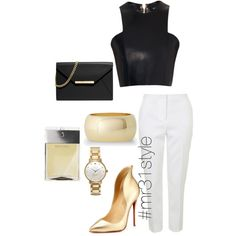 Untitled #173 by mayelin-decire-rodriguez on Polyvore featuring polyvore, fashion, style, Balmain, Topshop, Christian Louboutin, MICHAEL Michael Kors, Kate Spade, Express and Michael Kors