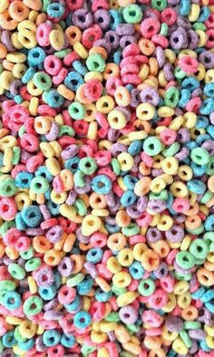 Colorful Fruit Loops Cereal Wallpaper  Background | Wallpaper
