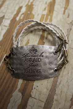 """""""Do not be afraid. Just believe. Luke 8:50"""" bracelet"""