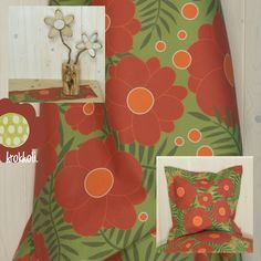 Stoff Design, Curtains, Shower, Prints, Etsy, Wall Decorations, Cotton Textile, Beautiful Homes, Projects
