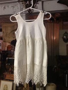 Vintage Hand Made Cotton Dress by 3birdz on Etsy