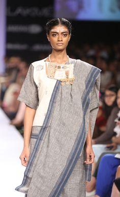 khadi cotton patchwork sari